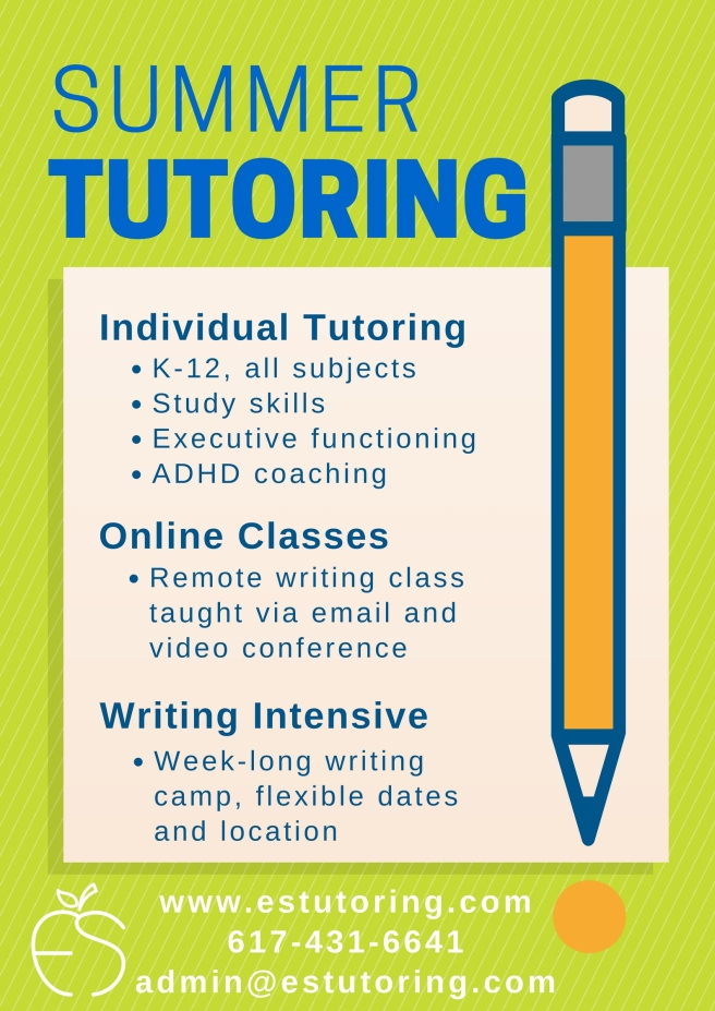 Summer tutoring graphic